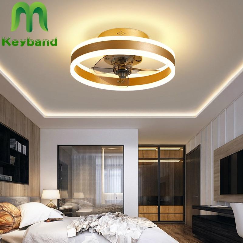 Fans Ceiling Light 48w Lamp 3 Color Change 0-100 Dimming Silent Dc Motor 6 Speeds Adjustable