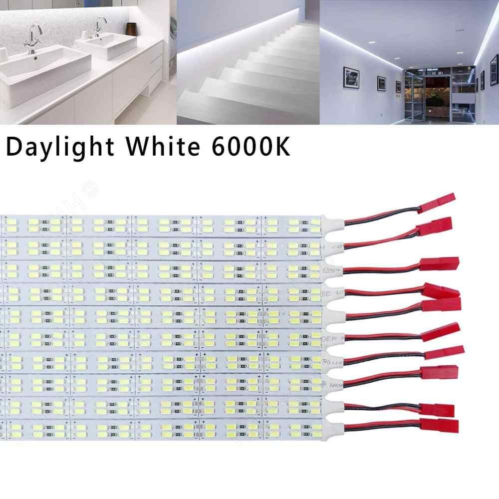 """Aluminium DC12V 9W SMD5630 Double Row 84LED 0.5 M/20 """"Kaku Keras LED Strip Cahaya Super Terang LED Bar Rumah Cahaya dengan Harga Murah"""