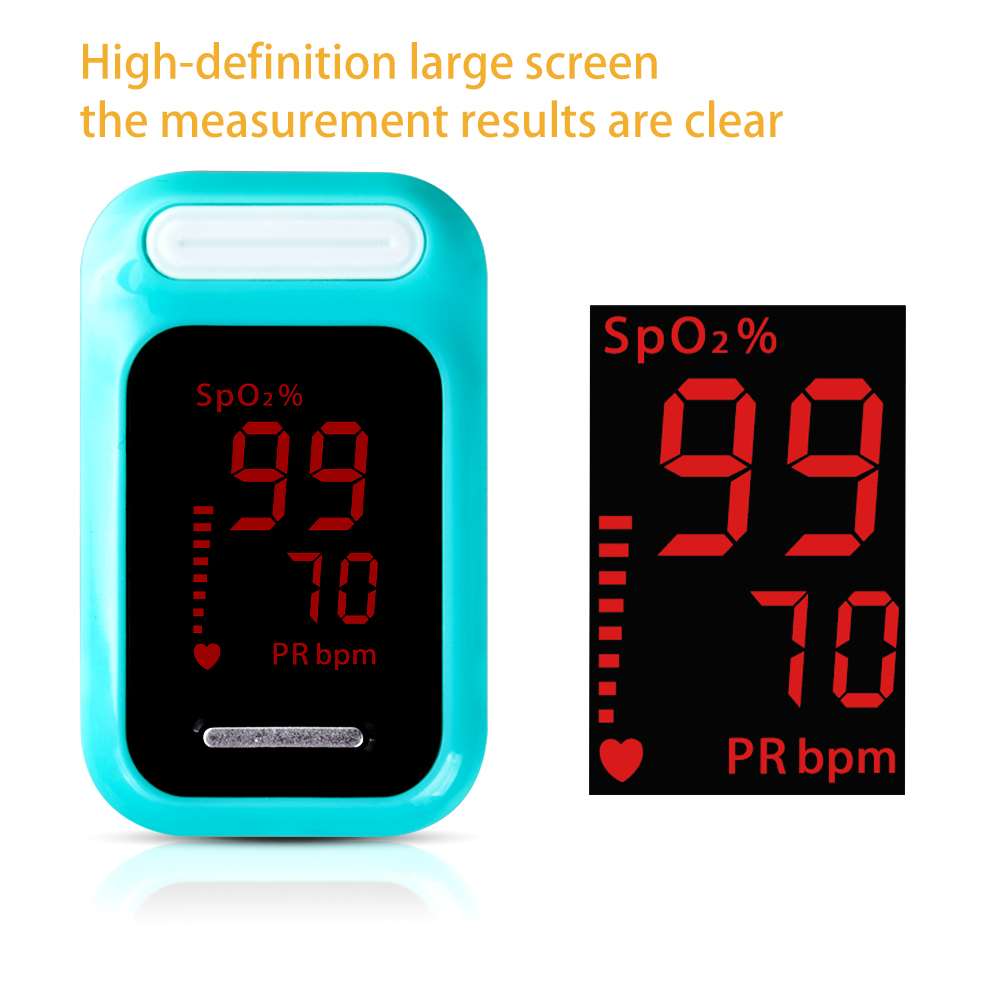 ELERA Finger Pulse Oximeter with OLED Display to calculate Blood Oxygen Saturation 17