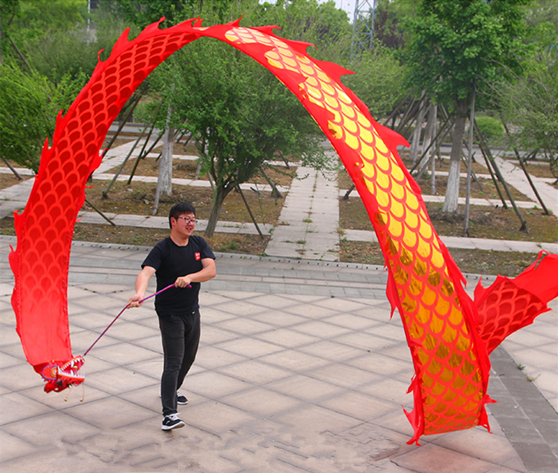 8M Fitness Square Dragon Dance Ribbon Drama Performance Adult Outdoor Sports Entertainment Props