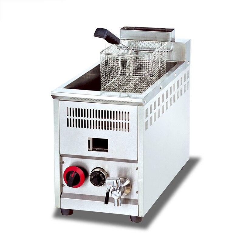 Friteuse horizontale de barre horizontale de friteuse de barre de contrôle de température d'écran simple de cylindre de gaz de BS-71A