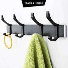Стеллаж на стену без отверстий крючок для одежды однотонный