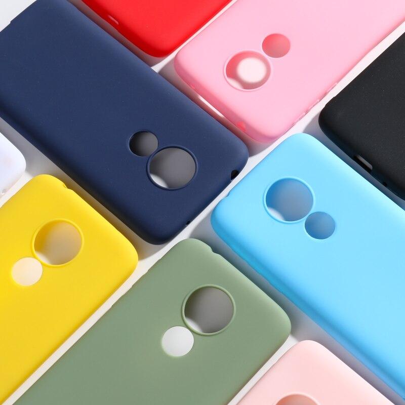SFor Motorola Moto G7 artı kılıfları silikon yumuşak şeker renk arka telefon tampon için Moto G7 güç E5 oyun go kılıfları kapak Coque