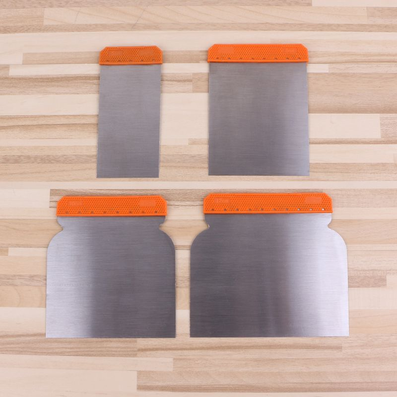4pcs Carbon Steel Putty Knives Kit Durable Scraper Putty Cleaning Filling Tool Construction Decoration  Tools