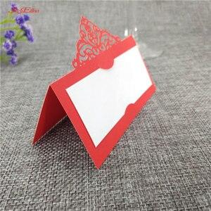 Image 5 - 10 個結婚式の名刺レーザーカット場所エスコートカード Pearlscent 紙カードゲスト名場所カード結婚式のテーブルデコレーション 8z