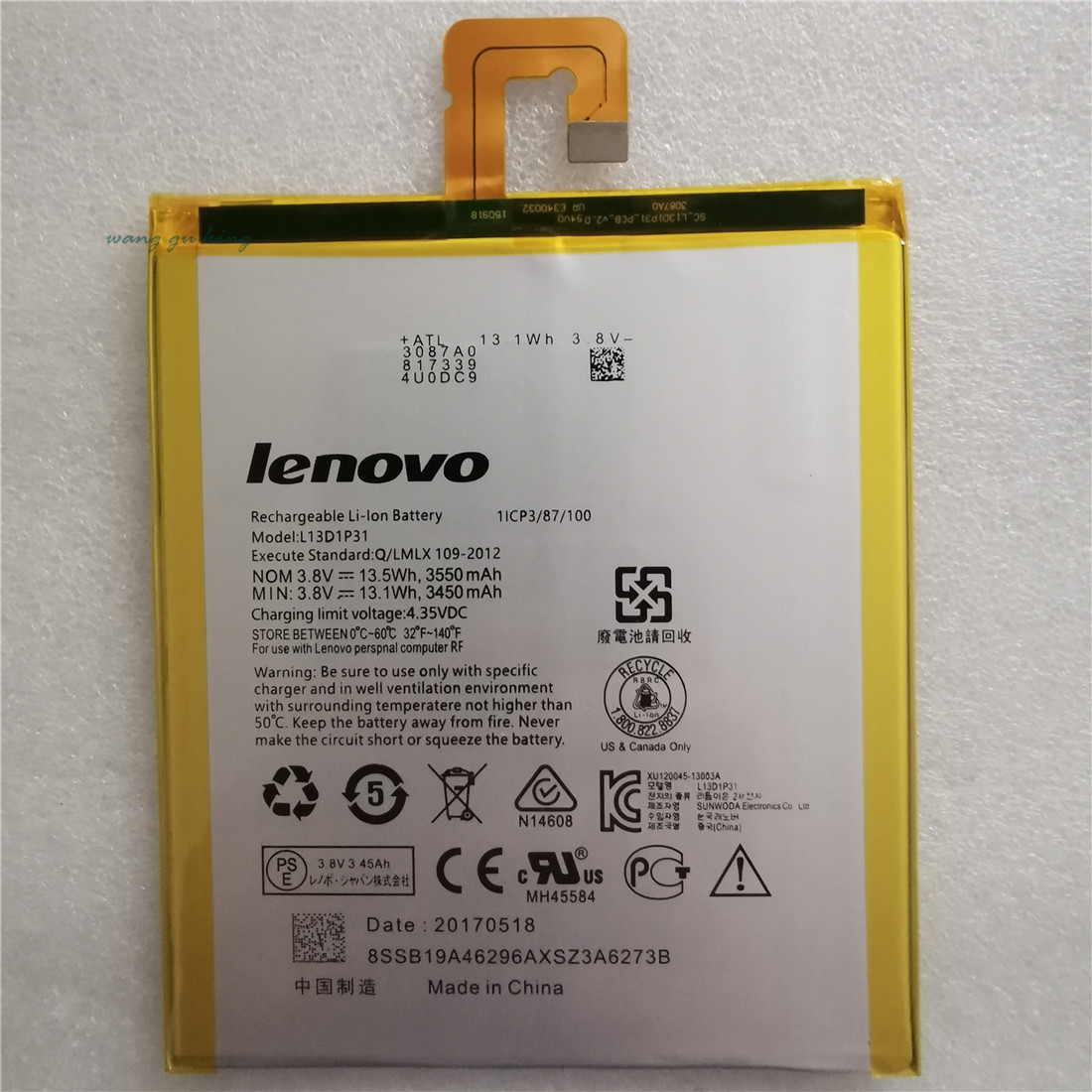 New 100% Original L13D1P31 Battery For Lenovo Pad A3500 S5000 S5000-H Tab3 7 TB3 710i 710F Tab 2 A7 A7-30 A7-10F A7-20F Battery