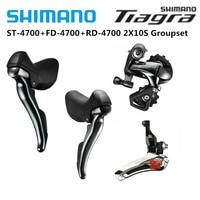 Shimano Tiagra 4700 2x10 Speed Road Bike Bicycle Mini Groupset Kit 4700 Front Derailleur +GS SS Rear Derailleur + ST Shifter