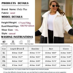 Image 5 - NUR PLUS Winter Samt Mantel Lange Warme weiß Mäntel Strickjacke Casual Frauen Woolen Mantel Blends Vollständige Mantel Plus Größe Weibliche
