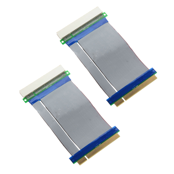 2pcs 32 Bits Flexible PCI Riser Slot Extender Cable Adapter Extension Converter
