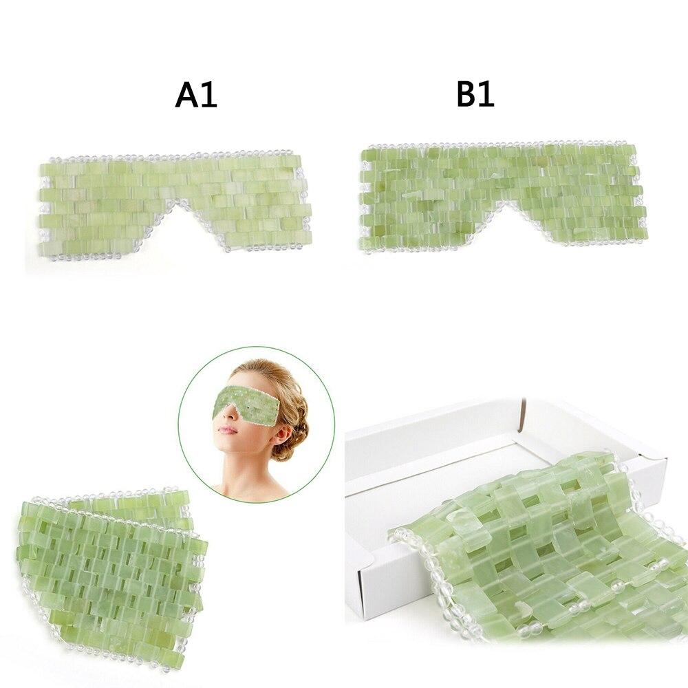 Natural Jade Stone Eye Mask Handmade Facial Eye Circle Skin Care Massager Tool Eye Masks