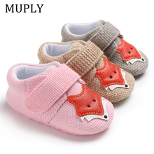 Knit Fox Baby Girl Shoes Animal Cartoon Cute Newborn Baby Shoes Soft Bottom Anti-slip First Walkers 0-18M Boys Shoes