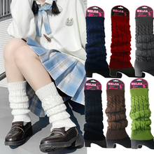 Winter Women Fashion Warm Knit Solid Leg Warmers Knee High Crochet Socks Boot Cuffs Beenwarmers