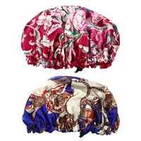 2 шт. Изысканная Ночная шапка с принтом головы для женщин и девочек для ежедневного использования
