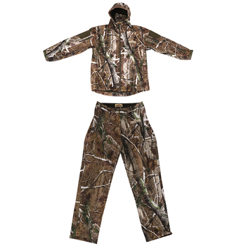 3D Pine Branch Hunting Rainsuit Camo Hooded Jacket Pants Trousers Camouflage Suit Breathable Hooded Jacket and Pants
