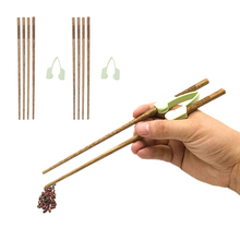 Palillos de entrenamiento antideslizantes que ayudan a comer individualmente
