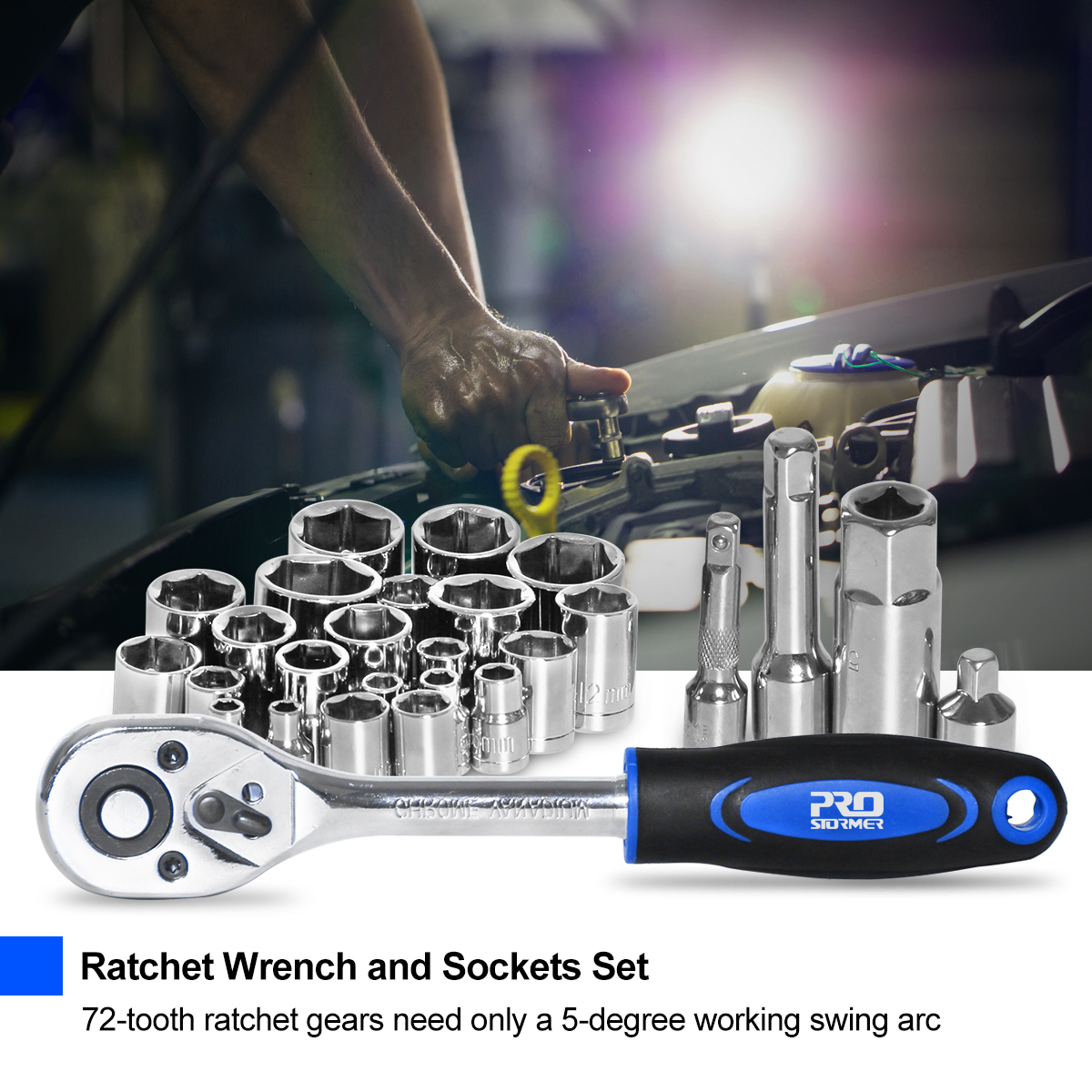Ratchet Wrench and Sockets set