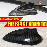 Fits for BMW F34 Accessories Carbon Fiber Shark Fin Antenna Cover Trim 3 Series 318i 320i 323i 325i 328i Shark Fin Cover 12 in