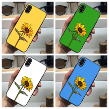 Aesthetic Sunflower Phone Case Soft Cover Black for Iphone SE2020 11 Pro Max 6 7 8plus 5 X XS XR Xsmax and Samsung S10 S9 Series muhammad ali phone case boxing king black soft cover for iphone 11 pro max 6 7 8plus 5s x xs xr xsmax for samsung s10 series