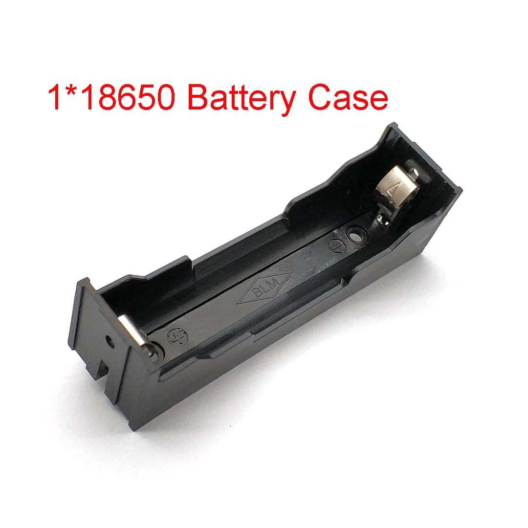 "Battery Box Plastic DIY Battery Holder Case Storage Box For 1 Single 18650 3.7V"" With Pin 18650 Battery Holder"