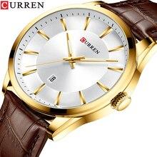 CURREN reloj para hombre, de cuarzo, de negocios, de pulsera, deportivo, resistente al agua, Masculino