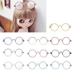 For 12''  Blythe Dolls Hippy Clear Lens Round Frame Eyewear Eye Glasses