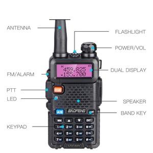 Image 3 - High Power 8W Baofeng UV 5R Walkie Talkie 10KM Portable CB ham Radio Station VHF UHF HF Transceiver Hunting UV5R Two Way Radio