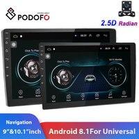 "Podofo 2din Car Radio 9"" & 10"" 2.5D GPS 2 DIN Android Car Multimedia Player for Volkswagen Nissan Kia Toyota Skoda Car Stereo|video input|monitor tft|5 inch car monitor -"