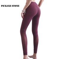 PS Elastic High Waist Yoga Leggings Sport women fitness Seamless Yoga Pants Spliced Mesh Gym JoggingsSport Leggins Mujer Trouser