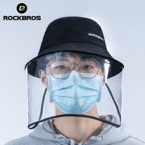 Image 1 - ROCKBROS אופניים מסיכת הפנים לנשימה מתקפל HD שקוף רחיץ אבק הוכחה הגנת מסכת כובעים בשימוש עם Mascarilla מסיכת