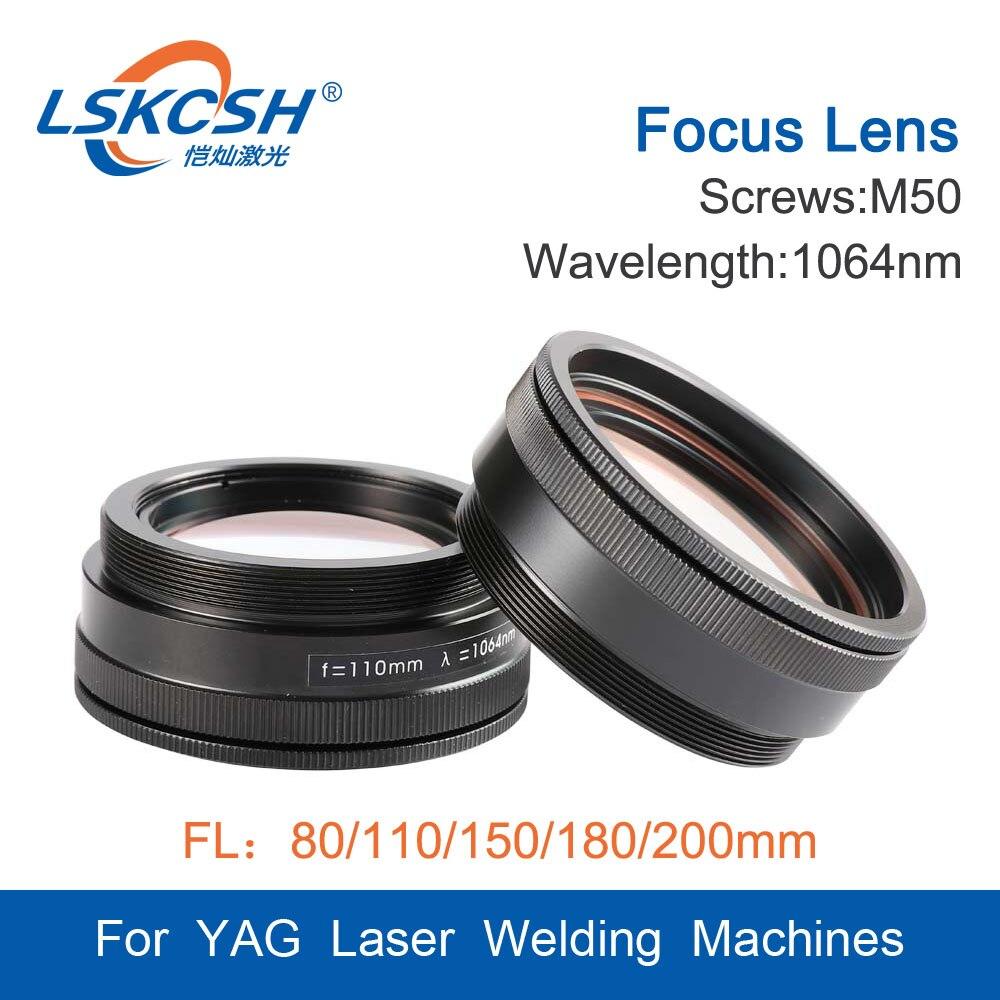 Máquina de Solda A Laser Lente de Foco do Laser Lente de Focalização M50 LSKCSH 3 Lentes Combinadas Scews M50 Foco 80 110 120 150 180 200 milímetros