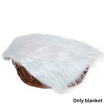Newborn Background Outdoor Baby Blanket Warm Mat Comfortable Soft Wraps Artificial Fur Photography Props Solid Swaddling