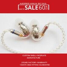 Dans loreille Hifi moniteur de scène bricolage personnalisé écouteur Hisenior D9 9/18BAs pilotes 7N OCC Super basse câble détachable en option