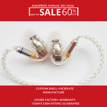 In Ear Hifi Stage Monitor DIY Custom Earphone Hisenior D9 9/18BAs Drivers 7N OCC Super Bass Detachable Cable Optional