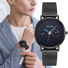 Unique Style Men Watch 2019 Luxury Ultra Thin Quartz Wristwatches For Men Brand Casual Mesh Steel Waterproof Clock reloj hombre carnival brand men wristwatches fashion luxury leather strap watch unique design style waterproof multifunction relogio reloj