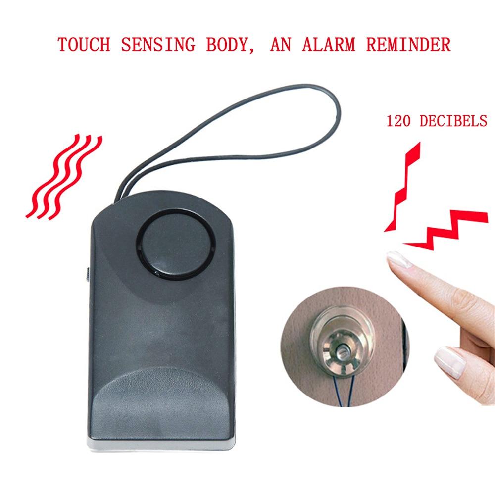Portable Door Handle Touch Alarm Door Sensor Alarm Door Handle Alarm 120 DB Anti-theft Scaring Door Security Hotel Safety Siren