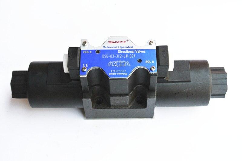 Válvula de solenóide hidráulica válvula de reversão
