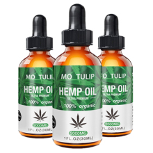 MO TULIP Essential Oils Organic Hemp Seed Oil Body Relieve Stress CBD Oil Skin Care Facial Body Care Pain Relief Anti Anxiety