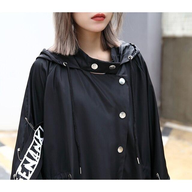 Tide Long Print Streetwear Hoodie Casual Female Wide Waisted Coat 3