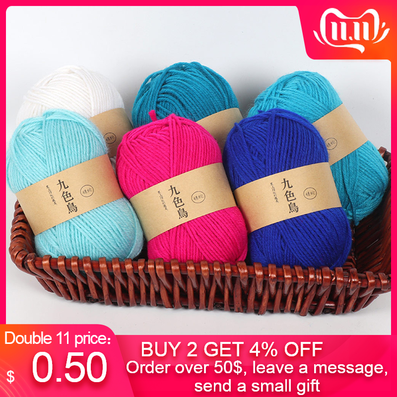Acrylic Line Crochet Diy Medium Thick Cushion Doll Hook Shoes Line Wool For Hand Knitting Warm Sweater Sofa Cushion Scarf вязани