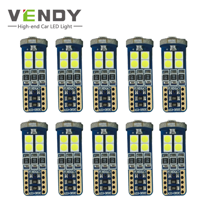 10pcs W5W T10 Car <font><b>LED</b></font> Clearance Lights Bulb Canbus Lamp For vw polo touran audi a4 b8 a3 bmw e46 e90 <font><b>skoda</b></font> <font><b>octavia</b></font> a7 a5 Rapid 2 image