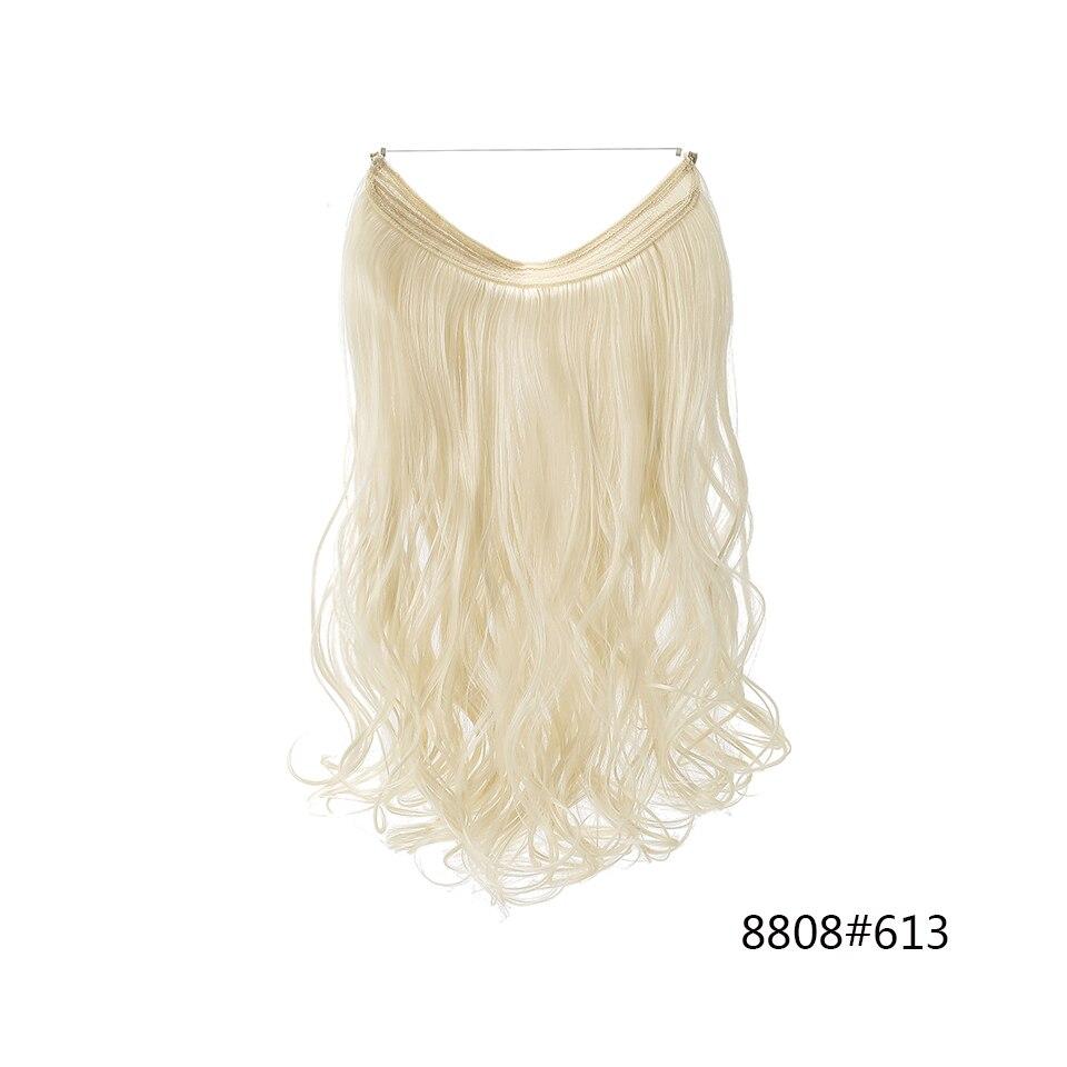 sintético natural escondido segredo fio coroa cabelo peça feminina