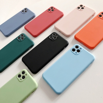 Matte Candy Color Camera Protection Case For iPhone 11 Pro XS Max XR SE 2020 8 7 Plus Shockproof Soft Silicone Back Cover Fundas image