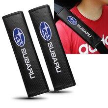 Seat-Belt-Pads Carbon-Fiber Forester Accessries Subaru Shoulder-Protection-Cover New