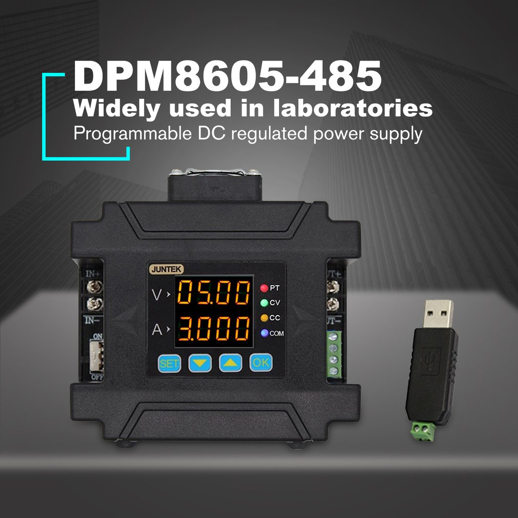 DPM8605-485 Programmable Digital Control Communication Regulated DC Constant Voltage Power Supply 60V 5A DC-DC Step-down