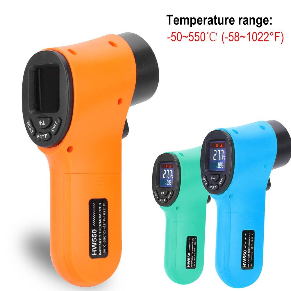 Цифровой ЖК измеритель температуры инфракрасный термометр бесконтактный ручной лазерный температурный тестер 50 ~ 550 градусов Цельсия инфракрасный термометр|Приборы для измерения температуры|   | АлиЭкспресс
