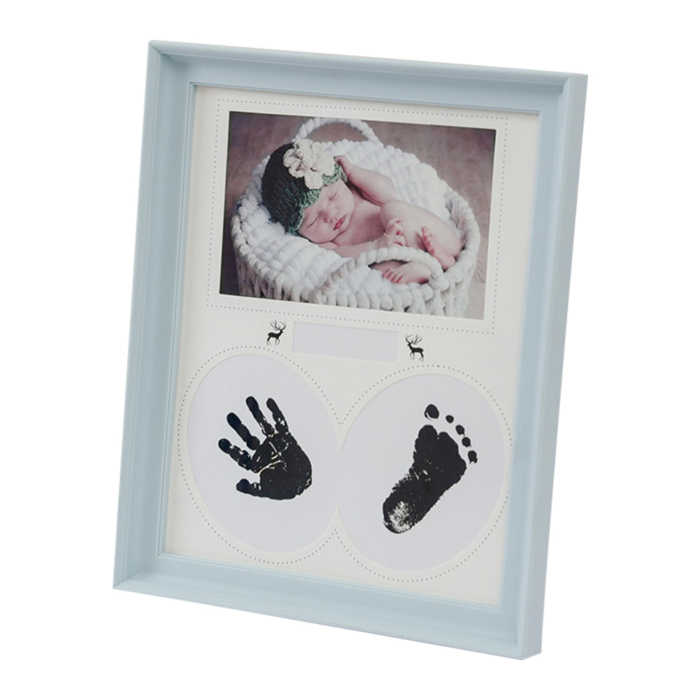 Photo Frame Wall Ink Pad Newborn Baby Kid Gift Handprint Footprint PVC Pictures Birthday Bedroom Hanging Home Decor