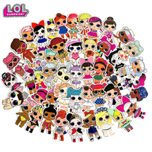 LOL Surprise Dolls 3d Stickers Personality Waterproof Lol Anime Graffiti Suitcase Guitar Decoration 50pcs 100pcs