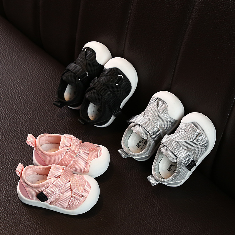 Unisex 2020 Children Causal Shoes Cross-tied Hook Loop Kids First Shoes Non-slip Shallow Summer Walking Shoes For Infant  D01281