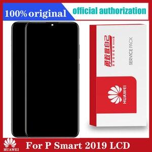 Image 1 - מקורי 6.21 10 מגע תצוגה עם מסגרת עבור Huawei P חכם 2019 LCD מסך מגע Digitizer עצרת POT LX1 l21 LX3