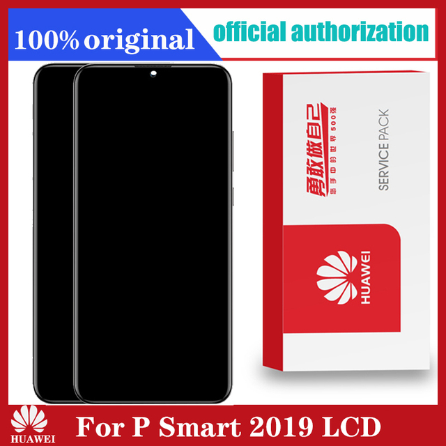 מקורי 6.21 10 מגע תצוגה עם מסגרת עבור Huawei P חכם 2019 LCD מסך מגע Digitizer עצרת POT LX1 l21 LX3